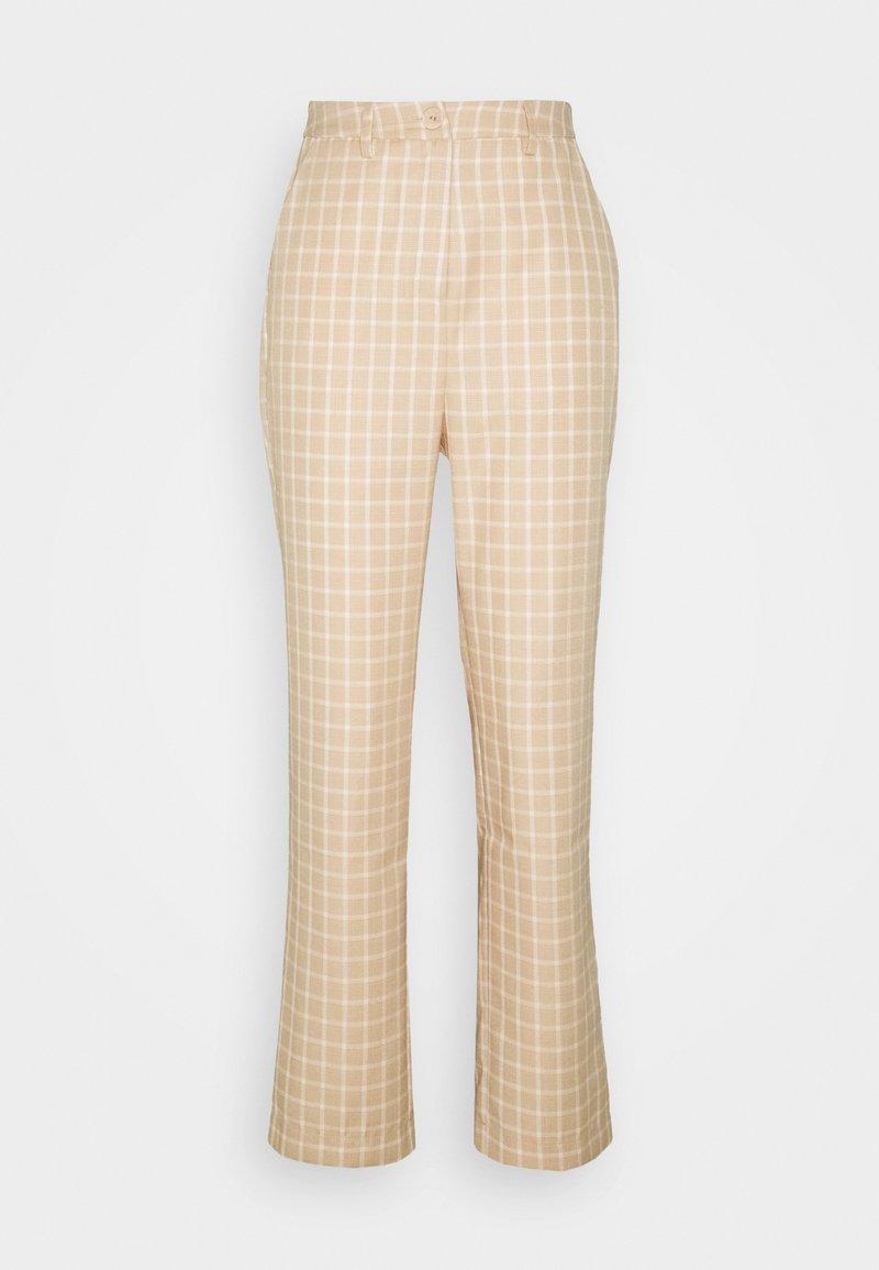 Fashion Union - JAUNE TROUSER - Trousers - beige,white