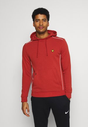 WITH CONTRAST PIPING - Hoodie - terracotta orange