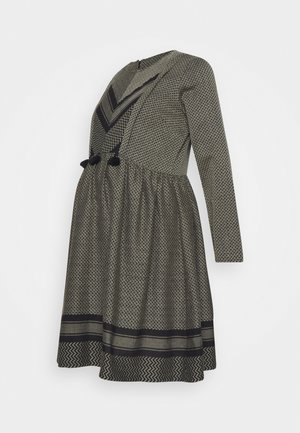 SMALL PARADISE - Denní šaty - olive/black