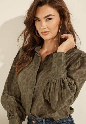 ANIMALPRINT - Button-down blouse - braun