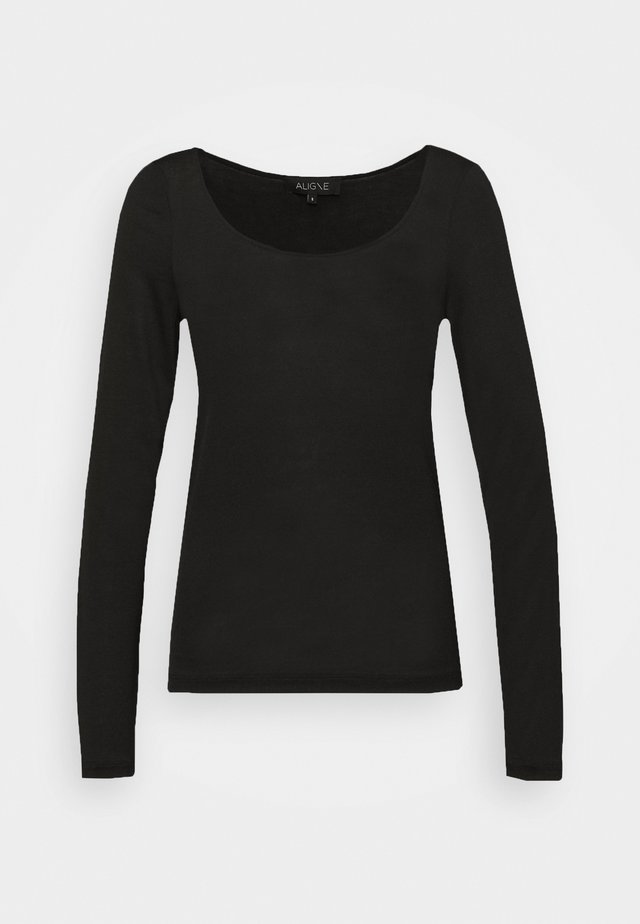 AMANDA - Long sleeved top - black