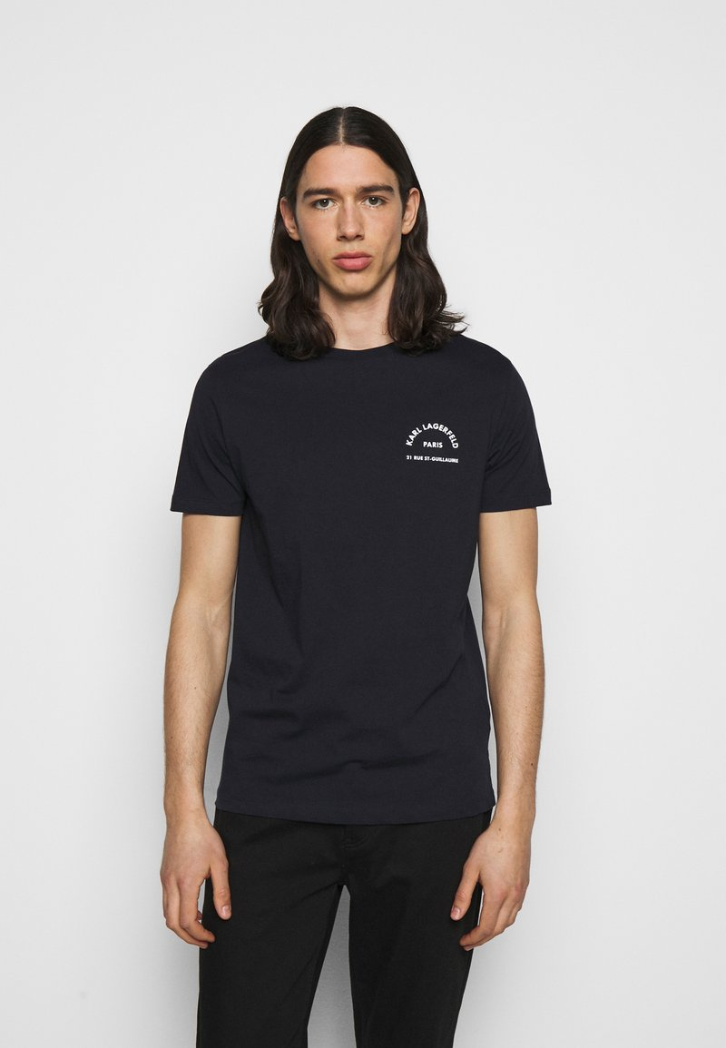 KARL LAGERFELD - CREWNECK - Print T-shirt - midnight blue