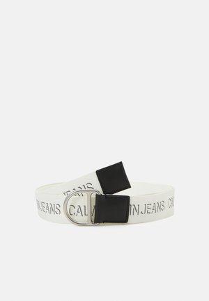 SLIDER D RING WEBBING BELT  - Belt - bright white