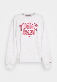 Tommy Jeans - COLLEGIATE LOGO CREW - Sweater - silver grey - 4