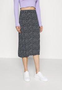 Hollister Co. - SLIP SKIRT - A-line skirt - navy - 0