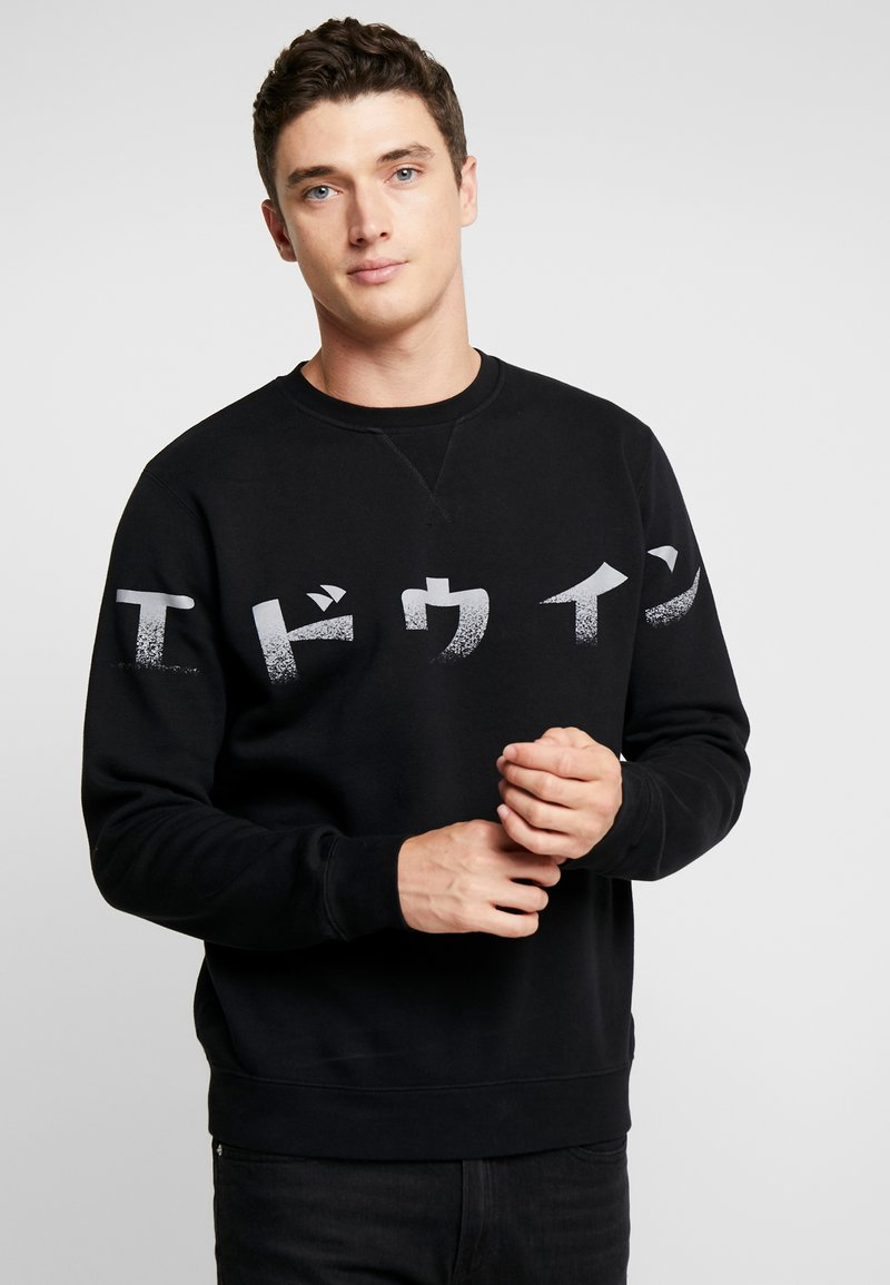 Edwin - IMPRINT BASE CREW - Sweatshirt - black