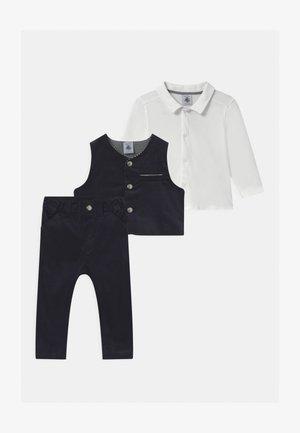 BABY ENSEMBLE SET - Suit waistcoat - dark blue/white