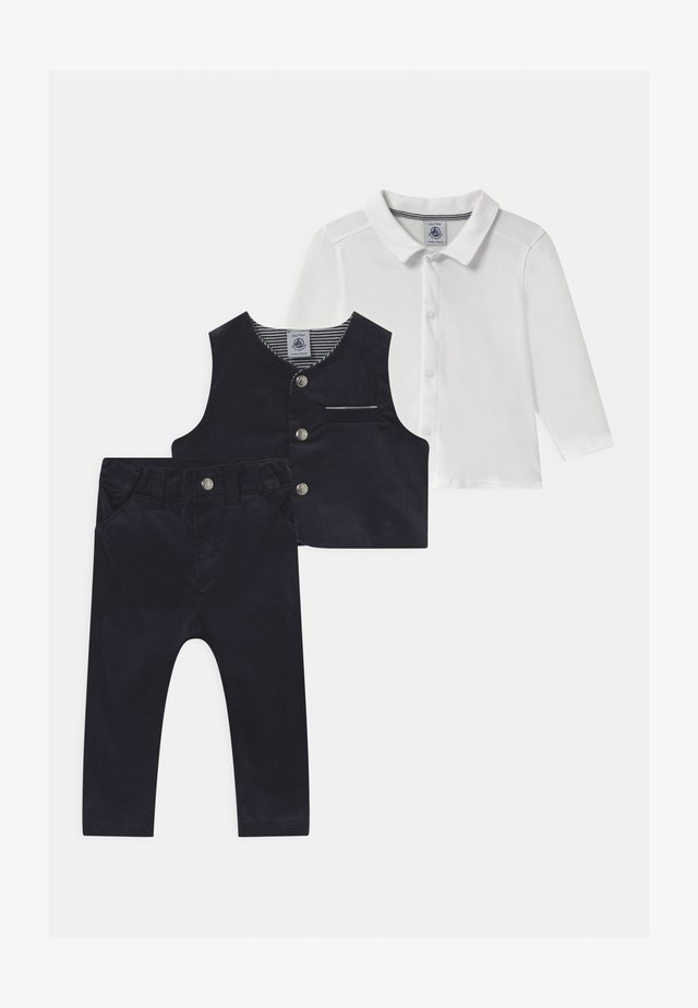 BABY ENSEMBLE SET - Anzugweste - dark blue/white