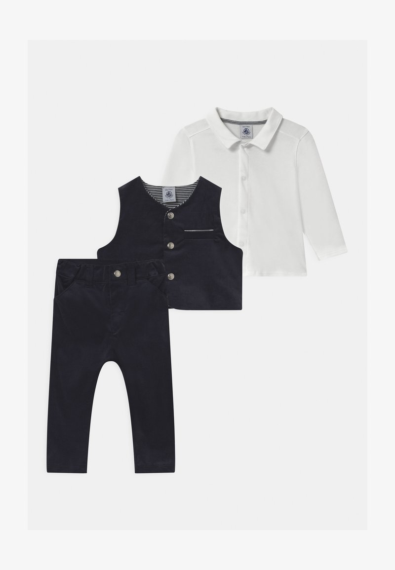 Petit Bateau - BABY ENSEMBLE SET - Suit waistcoat - dark blue/white