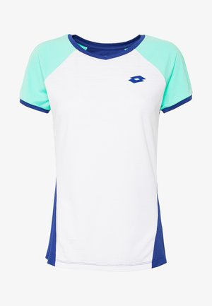 TEN TEE - Print T-shirt - bright white/sodalite blue