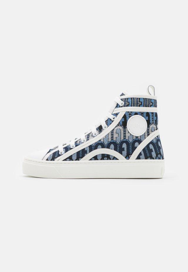 BINDING TOP  - Sneakersy wysokie - toni blu denim/talco