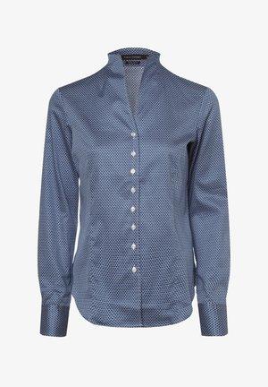 Shirt - indigo weiß