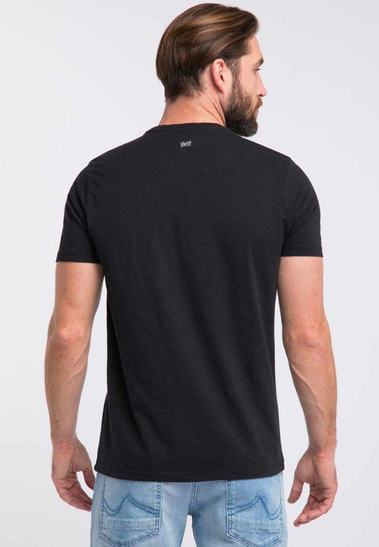 Petrol Industries Print T-shirt - black YoQXr