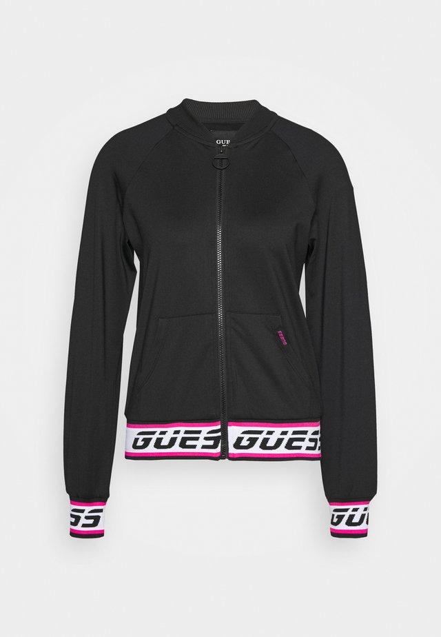 Fleece jacket - jet black