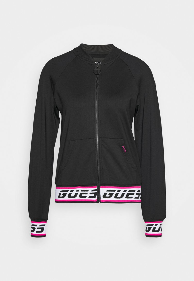 Guess - Fleecová bunda - jet black