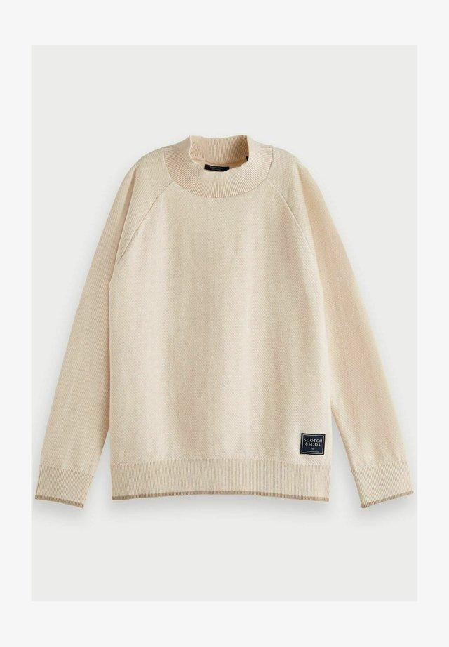 HIGH NECK - Sweater - ecru melange