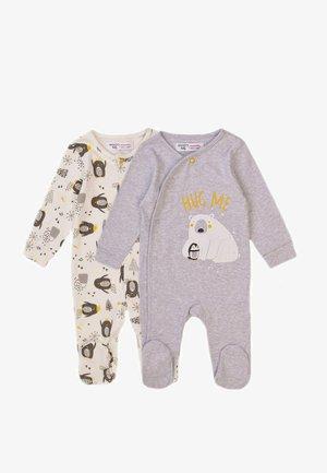 2 PACK  - Sleep suit - grey marl/white