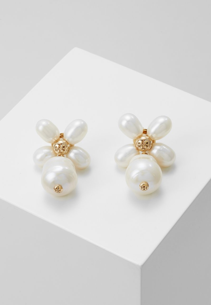 Tory Burch - BUDDY CLOVER  DROP EARRING - Earrings -  gold-coloured/ivory