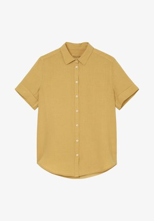 SHORT SLEEVED BUTTON THROUGH STYLE - Button-down blouse - sweet corn