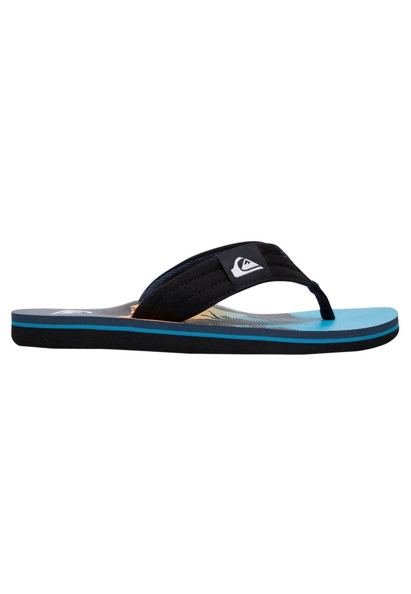 Quiksilver - MOLOKAI LAYBACK  - T-bar sandals - black/blue/blue