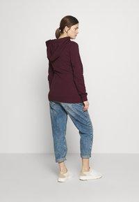 Anna Field MAMA - NURSING FUNCTION hoodie - Bluza - winetasting - 2
