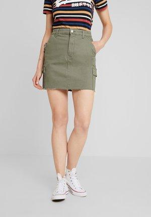 ULTRA HIGH RISE CARGO SKIRT - A-line skirt - olive