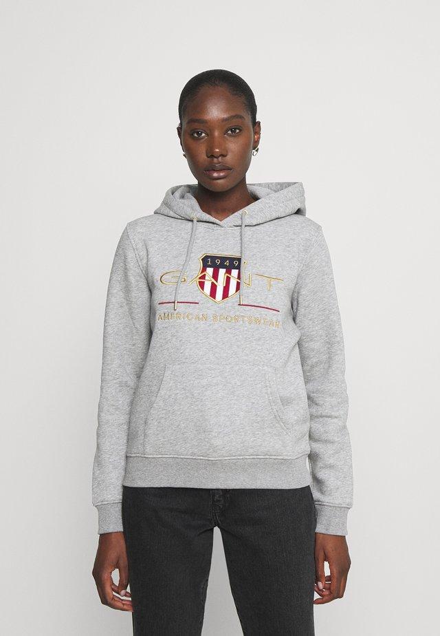 ARCHIVE SHIELD HOODIE - Sweatshirt - grey melange