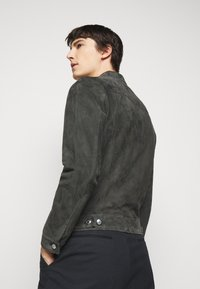 Paul Smith - GENTS - Kožená bunda - dark grey - 2