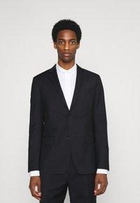Calvin Klein Tailored - TONAL GRID CHECK EXTRAFINE SUIT - Oblek - navy - 0