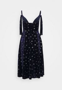 Missguided - TIE STRAP MIDI DRESS - Vestito estivo - navy - 1
