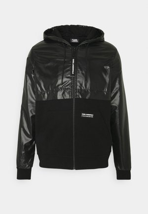 HOODY JACKET - Summer jacket - black