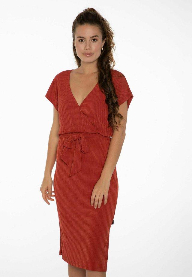 NADIA - Korte jurk - clay