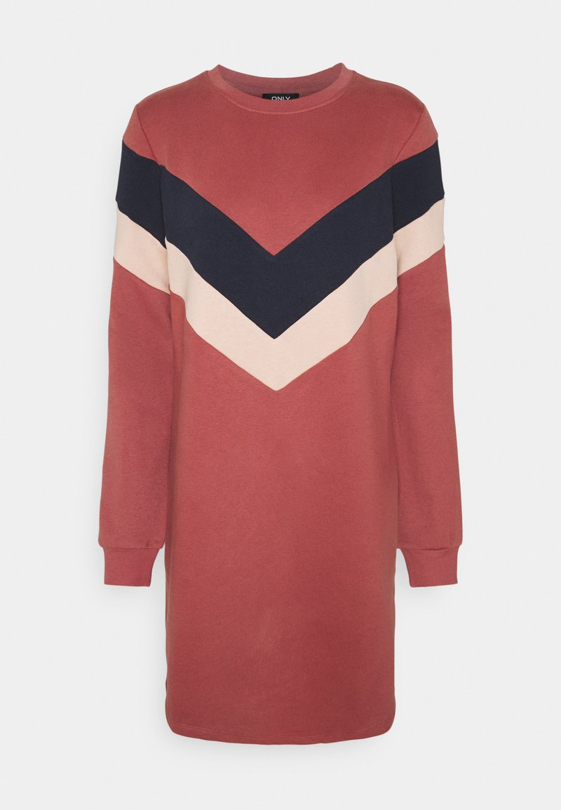 ONLY - ONLDAKOTA O NECK DRESS - Day dress - apple butter/mahogany rose/night