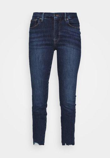 LEGS CROP - Džíny Slim Fit - blue