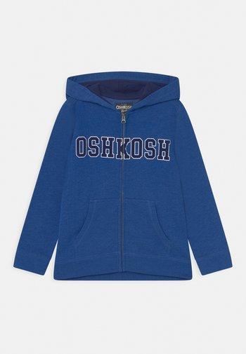 LOGO HOODIE - Zip-up sweatshirt - blue