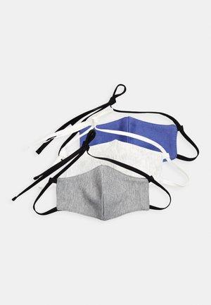 3 PACK - Mascarilla de tela - blue/grey/white