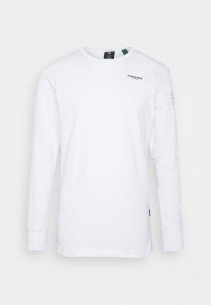 BASE R T L\S - Top sdlouhým rukávem - white