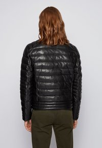 BOSS - Leather jacket - black