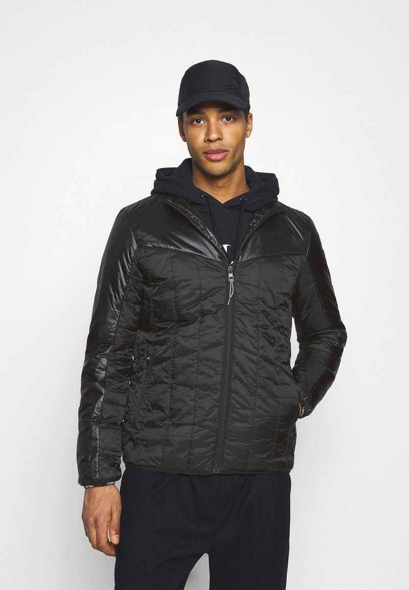 Calvin Klein - MULTI QUILT WADDED JACKET - Light jacket - black