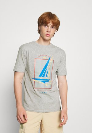 BOAT 2 PACK - Print T-shirt - dark blue/grey marl