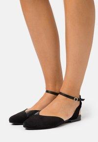 Anna Field - LEATHER  - Slingback ballet pumps - black - 0