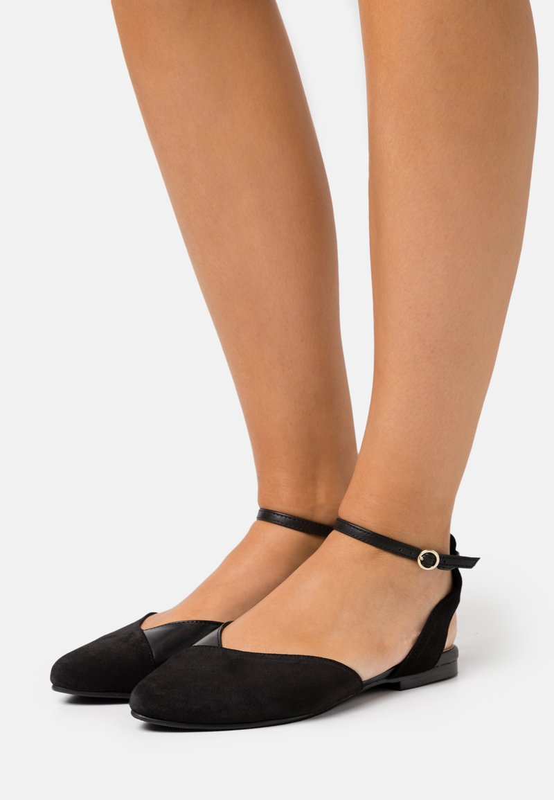 Anna Field - LEATHER  - Slingback ballet pumps - black
