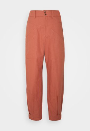 DOBBY - Trousers - copper brown