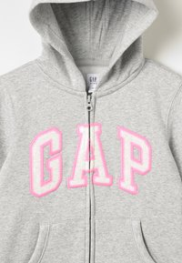 GAP - GIRLS ACTIVE LOGO - veste en sweat zippée - heather grey - 4