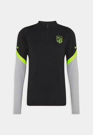 ATLETICO MADRID DRY DRILL - Club wear - black/wolf grey/volt