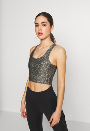 PRINTED CRISS CROSS CROP TOP - Topper - spring leopard