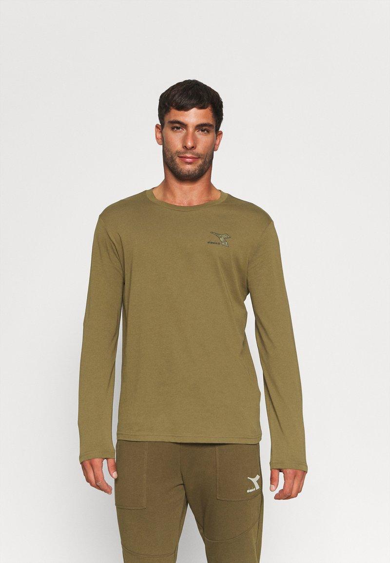 Diadora - CHROMIA - Long sleeved top - olive green