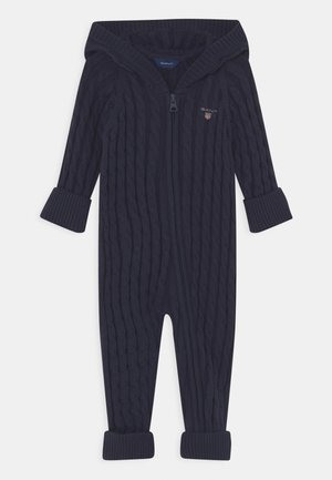 CABLE ZIP COVERALL UNISEX - Jumpsuit - evening blue