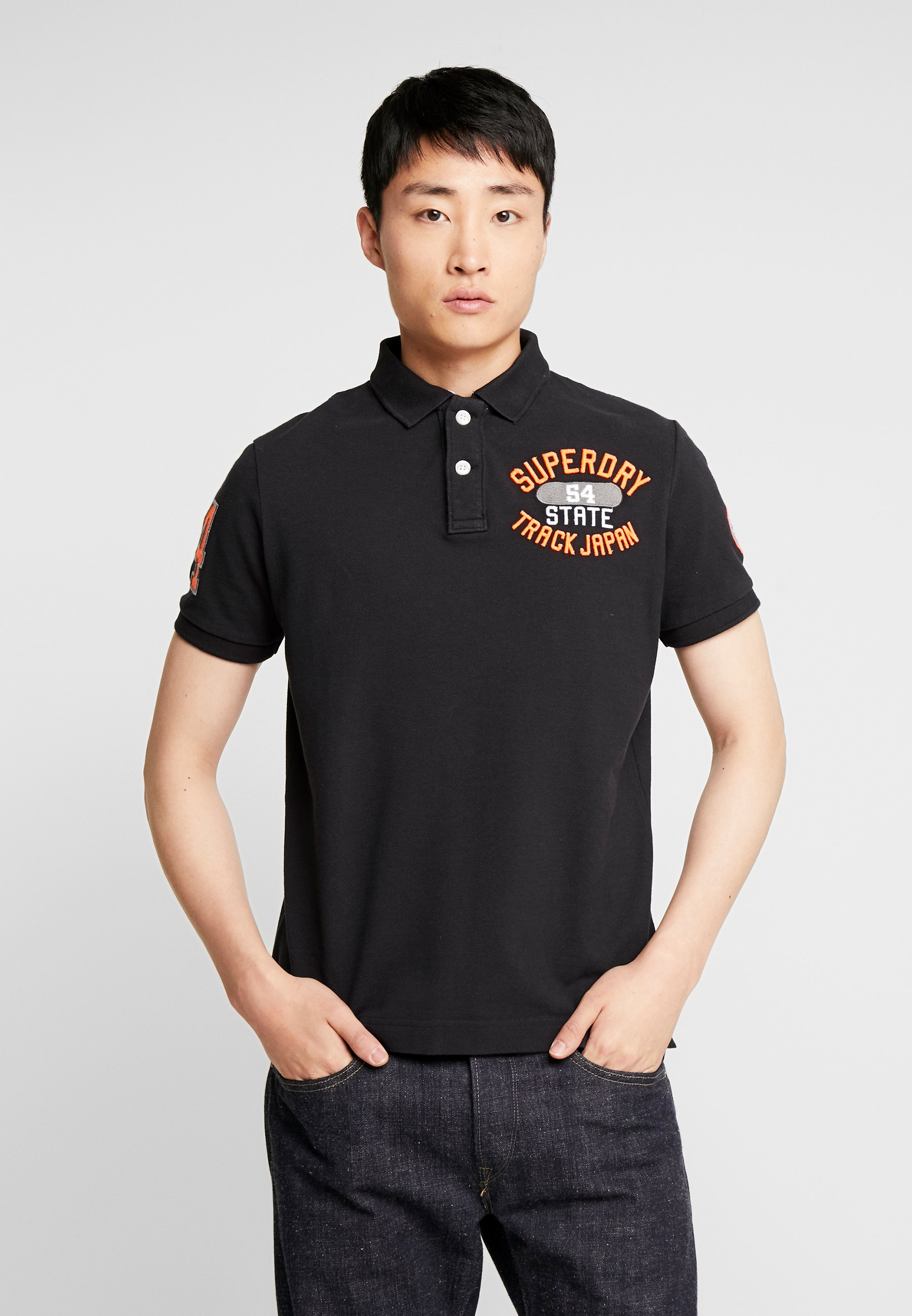 CLASSIC SUPERSTATE Poloshirts black