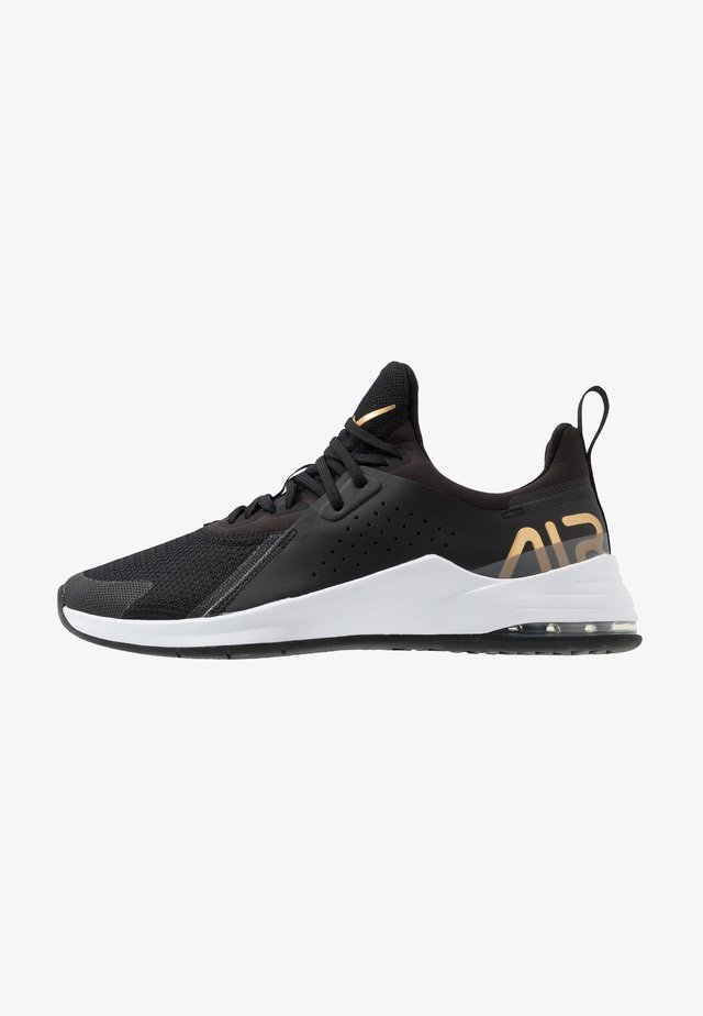 AIR MAX BELLA TR  - Sports shoes - black/metallic gold/flat pewter/white